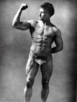 Eugen Sandow (1867 – 1925) vienas pirmųjų garsių kultūristų