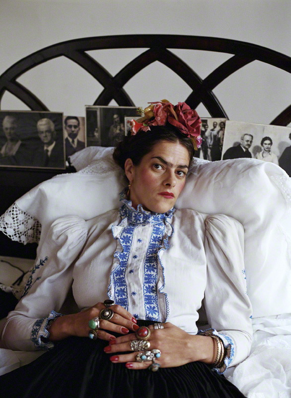 NPG x134339; Tracey Emin as Frida Kahlo by Mary McCartney
