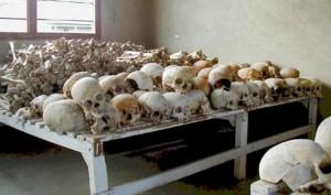 Ruandos genocido aukų kaukolės / © Wikimedia Commons archyvo nuotr.