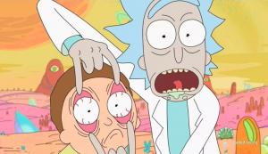 """Animacinio serialo """"Rick and Morty"""" kadras"""